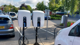 V2G chargers installed at two Manchester hospitals